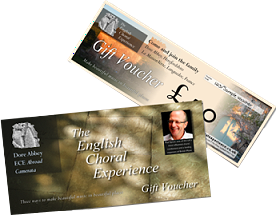 English Choral Experience gift vouchers